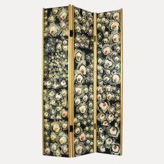 Paravent motif floral patchwork