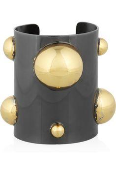 KELLY WEARSTLER  18-karat gold-plated and brass cuff