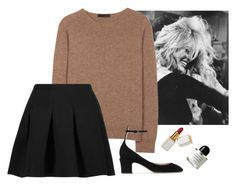 """""""Untitled #476"""" by bojana-687 ❤ liked on Polyvore featuring The Row, T By Alexander Wang, Valentino, Byredo, black, skirt and Sweater"""