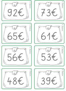 mathematik klasse 1 rechnen mit geld klammerkarten geld euros mathe kostenfreies. Black Bedroom Furniture Sets. Home Design Ideas