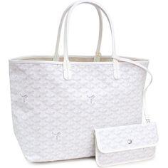 Goyard Saint Louis PM White Tote Bag as seen on Gigi Hadid