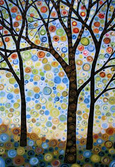 tree inspiration fro kids' auction piece  Abstract doodle tree art