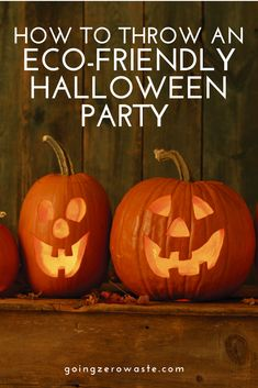 Eco-friendly tips and recipes for throwing a spooktacular Halloween party! Halloween Cans, Halloween Party, Minimalist Christmas, Green Christmas, Diy Halloween Decorations, Sustainable Living, Zero Waste, Pumpkin Carving, Eco Friendly