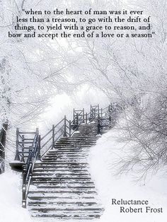 Reluctance, Robert Frost