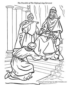 Matthew 18 the parable of the unforgiving servant bible for Unmerciful servant coloring page