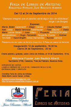 Feria de Libros de Artistas: Feria de Libros de Artistas - Biblioteca Popular J...