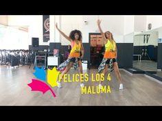 Maluma - Felices los by Ysel Gonzalez y Kat Herrera Hula Hoop, Basketball Court, Fitness, Youtube, Sports, Academia, Health, Zumba Routines, Dancing