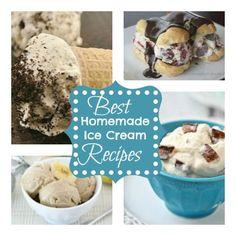 Best Homemade Ice Cream Recipes Ice Cream Desserts, Frozen Desserts, Ice Cream Recipes, Frozen Treats, Delicious Desserts, Dessert Recipes, Yummy Food, Dessert Healthy, Fun Desserts