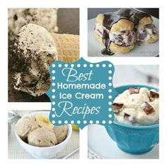 Best Homemade Ice Cream Recipes you don't even need a ice cream maker!!