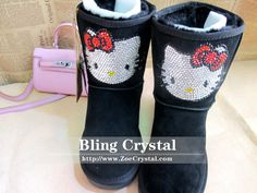 HK bling Winter boots.