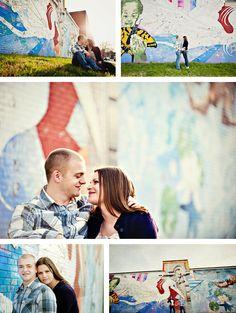 graffiti engagement session - Erin Lassahn Photography