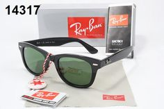 Cheap Ray Ban Wayfarer Ray-Ban Wayfarer Sunglasses Lens Green Frame Black