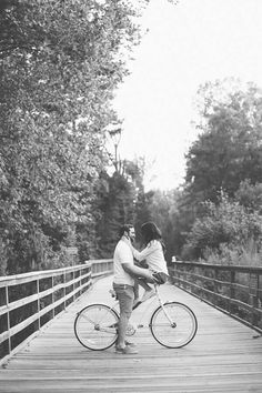 Engagement Picture <3 I'd love to use our beach cruisers!