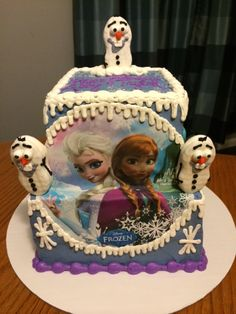 Frozen Cake with Olaf Cookie Pops-Black Dog Bakery by Brianna