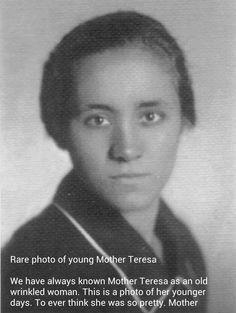 Rare photo of Mother Teresa at age 18.