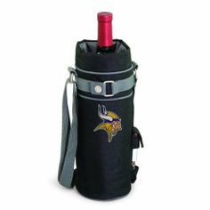 NFL Minnesota Vikings Insulated Single Bottle Wine Sack with Corkscrew by Picnic Time. $21.95. Fully insulated for temperature retention. Stainless steel waiter-style corkscrew that is included can be conveniently stored in its own secure pocket. NFL single bottle insulated wine tote with digital print team logo. Adjustable shoulder strap for easy transport. Durable polyester canvas construction. This NFL insulated wine tote is perfect for those who enjoy wine, and app...