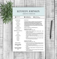 Proffesional Resume Professional Resume Templateresume Refresh On Creativemarket .