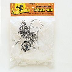 Nemt, billigt og hurtigt pynt til Halloween! Hvidt Halloween Spindelvæv 20 gr. Kan strækkes ud. Kan benyttes ude og inde på vægge, vinduer og døre. Lav byens mest uhyggelige halloween dekoration med dette flotte edderkoppespind. Jo mere du trækker det ud jo finere bliver det.