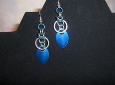 Byzantine with Scale Chainmaille Earrings
