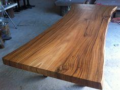 Live Edge Dining Table Reclaimed Solid Slab Acacia Wood от flowbkk