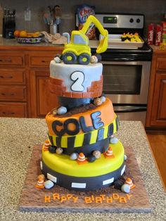 Construction Cake By jessicawells on CakeCentral.com