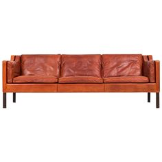 Børge Mogensen 2213 Leather Sofa by Fredericia Stolefabrik in Denmark | From a unique collection of antique and modern sofas at https://www.1stdibs.com/furniture/seating/sofas/