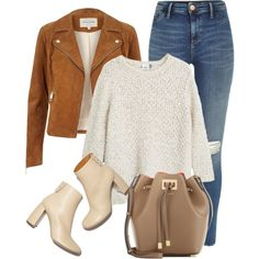 A fashion look from November 2015 featuring MANGO sweaters, River Island jackets and River Island. Browse and shop related looks.