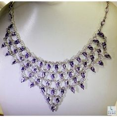 Riyo Shrill Amethyst 925 Solid Sterling Silver Purple Necklace Sname-2001