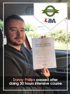 Great job Danny Phillips! Driving Test, News