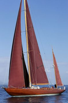 Classic Saling Yacht Agneta. Build for the Italian FIAT family Agnelli. Today often seen in the medaterinian race circuit