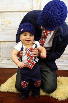 Baby Boy Set of Tie Shirts for Daddy and Son + Baby hat. Any Size Bodysuit    Any Size T-Shirt. New Dad Baby Boy Father s Day Gift. Easter aa082ba17827