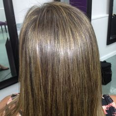 Beautiful highlights by our hair stylist. Julia