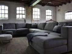 u-shaped corner sofa Michelle in country style - u-shaped corner sofa Michelle in country style - U Shaped Corner Sofa, Home And Living, Home And Family, Country Style Living Room, Home Theater Design, Fashion Room, Cozy House, Living Spaces, New Homes