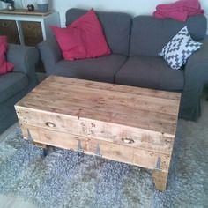 Table basse en bois de récup'