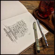 "Polubienia: 160, komentarze: 3 – Typography :) ☕️✏️ (@tomasz_biernat) na Instagramie: ""✏️ #tea #havana #handmadefont #typism #sakura #handletter #thedailytype #typegang #handlettering…"""