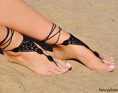 Crochet Aqua sandales pieds nus bijoux de pied par FancyyFeets