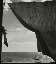 View At the Mediterranean Sea, Liguria by Herbert List on artnet. Browse upcoming and past auction lots by Herbert List. Herbert List, Modern Photography, Black And White Photography, Street Photography, Harper's Bazaar, Robert Frank, Robert Doisneau, Out To Sea, Window View