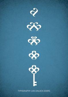 Power of Type. All sizes | Typowall ♠ The Key / nøkkelen | Flickr - Photo Sharing!