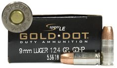 Speer 9mm Luger 124 gr HP Gold Dot Law Enforcement Duty 50 Rounds per Box @ Sportsmans Outdoor Superstore $25 ... #LavaHot http://www.lavahotdeals.com/us/cheap/speer-9mm-luger-124-gr-hp-gold-dot/115529