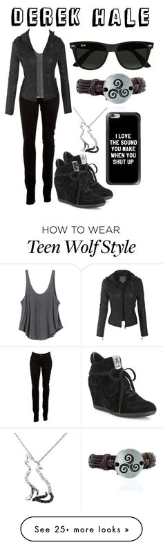 """Derek Hale"" by aquatic-angel on Polyvore featuring Malin + Mila, J Brand, Ash, RVCA, Casetify and Ray-Ban"
