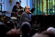Stevie Wonder performs at the White House as Burt Bacharach and Hal David receive the 2012 Library of Congress Gershwin Prize for Popular Song.