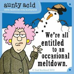 We're all entitled to an occasional meltdown