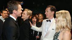 Neil Patrick Harris, Meryl Streep, Benedict Cumberbatch and Naomi Watts mingle backstage at The Oscars 2015