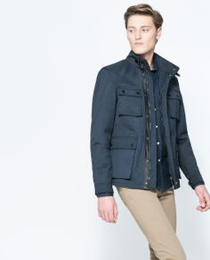ZARA - MAN - 4 POCKET SHORT PARKA | Jackets for Men | Pinterest