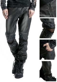 Discover DevilNight brand collections of gothic clothing for men.Fashion and style arrives in mens gothic tops,jackets,coats,pants and plus more.Shop your gothic clothing now. Punk Outfits, Gothic Outfits, Fashion Wear, Mens Fashion, Urban Fashion, Gothic Pants, Mens Leather Pants, Vip Fashion Australia, Gothic Fashion