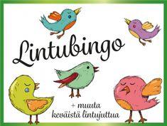 Lintubingo, Lintutietovisa ja Tipuhoroskooppi ryhmätoimintaan Nature Crafts, Kids Learning, Back To School, Classroom, Birds, Teaching, Education, Children, Fictional Characters