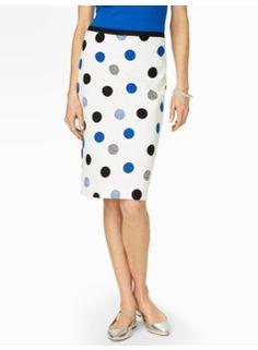 Dotted Dots Jacquard Pencil Skirt - Talbots