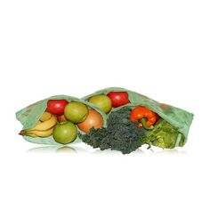 Blue Avocado Reusable Produce Bag - Green - 3 Pack - Use these breathable, portable bags for grocery shopping, workout, or travel. These bag make it easy to go completely plastic-free! They have a drawstring closure and are PVC, lead, and BPA free. Pack of 3 reusable bags - perfect for produce, workout, trravel, and laundry. Holds up to 5 pounds in each bagIngredients: Made from 100% post-consumer recycled bottle fabric from Repreve Organic: NA Gluten Free: No Dairy Free: No Yeast Free: No…