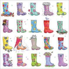 The Charity Shopper works well with wellies and tall boots - funky fashionable and city chic Stationery Companies, Wellies Boots, City Chic, Bunting, Trading Cards, Note Cards, Cardmaking, Charity, Christmas Cards