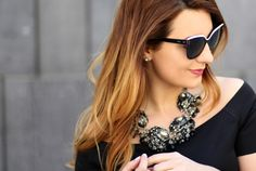 """What every woman needs is a statement jewelry piece! They are stylish, fun to wear and boost's one's confidence. But what is """"statement"""" jewelry? They are bold accessories t… White Statement Necklaces, Statement Jewelry, H&m Trends, Every Woman, Black Tops, Sunglasses Women, Dior, Couture, Detail"""